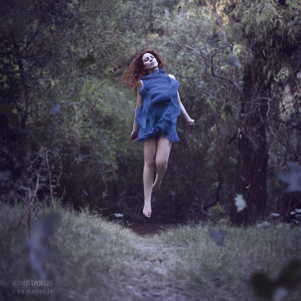 Off her feet